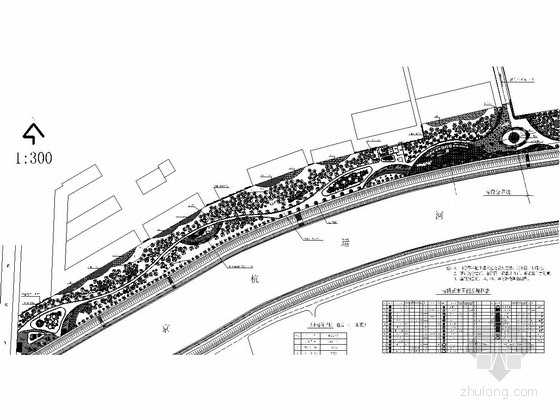 [杭州]沿桥运河绿地景观设计施工图(含3dmax图纸)