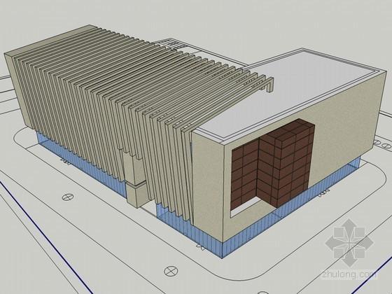 工业办公楼SketchUp模型下载