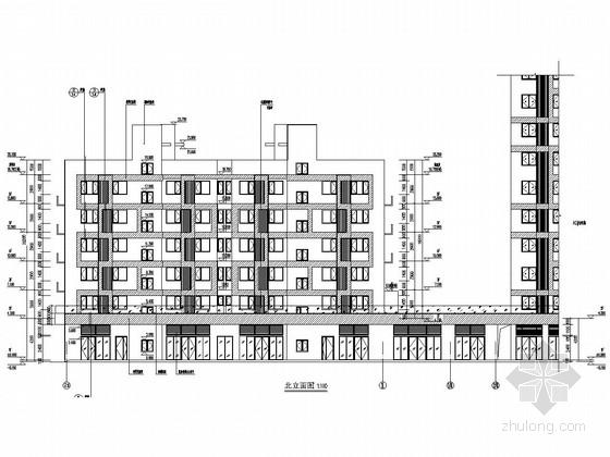 [河北]3600平六层带底商剪力墙结构住宅结构施工图(含建筑图)