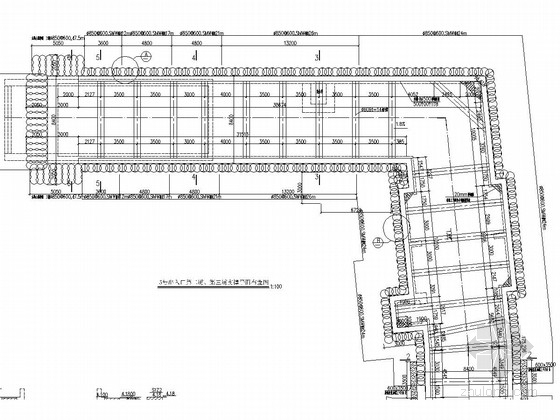 地铁出入口深基坑SMW工法桩加内支撑支护施工图