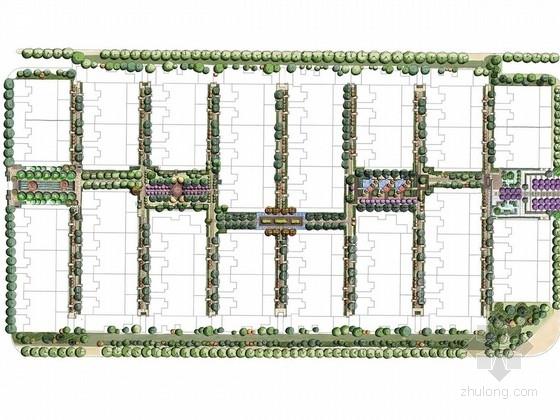 [西安]传统中式古典园林风格花园式庭院景观规划设计方案
