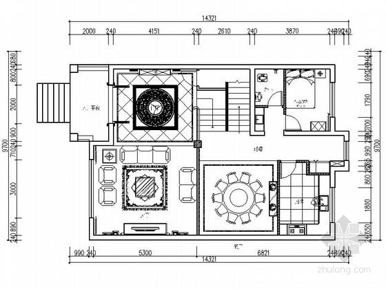 [上饶]商业中心区新中式四层别墅装修施工图