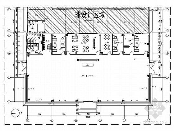[山东]全球最大汽车改装厂商之一汽车4S店展厅装修施工图(含水暖图)