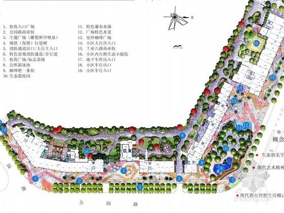 [深圳]花园小区景观概念设计方案