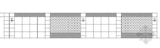 带隔音护拦景观围墙施工图