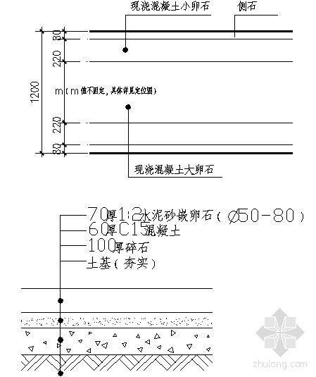 卵石路做法详图-4