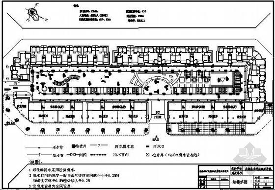四川某学院室外给排水平面布置图