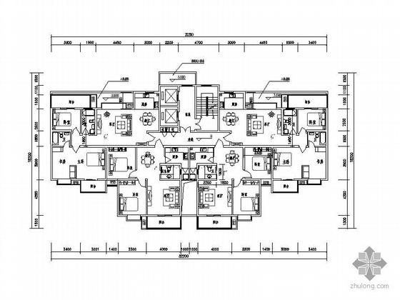 塔式高层一梯四北梯户型图(85/103)