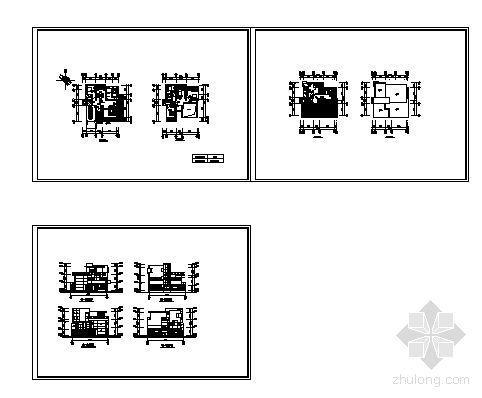 上海某高档小区楼群建筑方案图-2