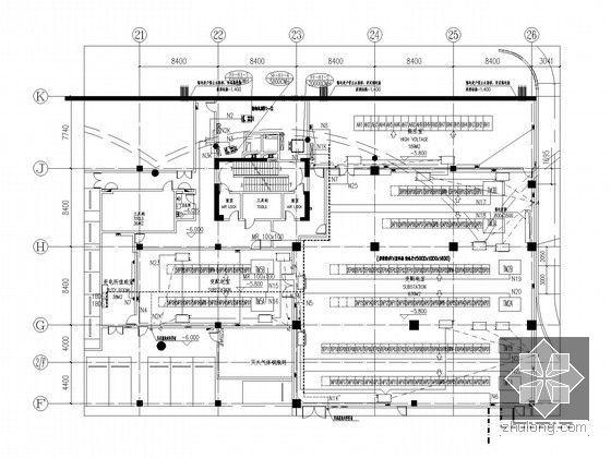 [湖北]全球首座室内电影乐园强电施工图纸(国内外顶级设计院审图意见)-1#变电所动力插座平面图