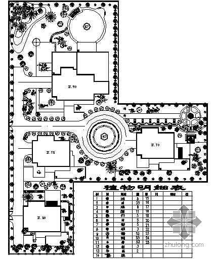 某别墅区景观设计平面图