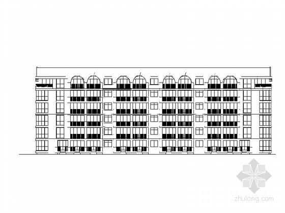 某阳光海岸住宅区六层公寓建筑施工图