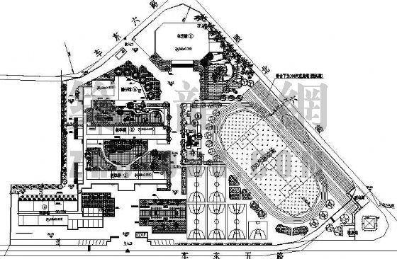 长沙市某中学景观规划施工图