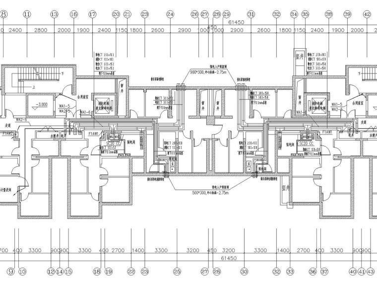 [河北]31层高层住宅楼带人防电气施工图