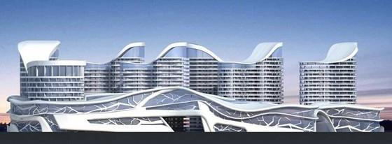 [成都]波浪形大型现代风格商业综合体建筑设计方案文本(知名设计院)