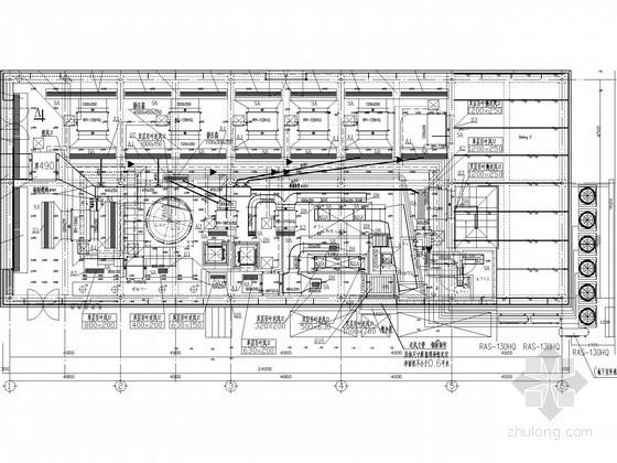 空调vrv施工图资料下载-[上海]某披萨店VRV空调系统施工图