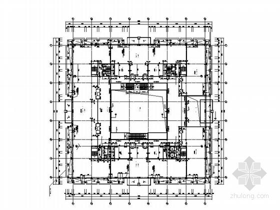 省级博物馆建筑施工图平面图