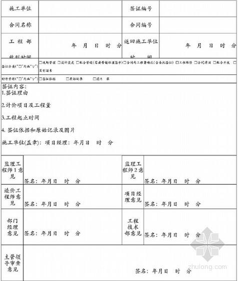 [重庆]地产集团施工单位现场签证工作指南(155页附表格)-工程签证单