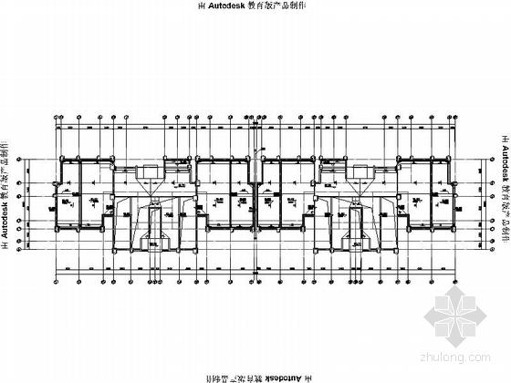 [安徽]Artdeco风格三十二住宅安置区建筑施工图(画图精细推荐参考)-Artdeco风格三十二住宅安置区建筑平面图