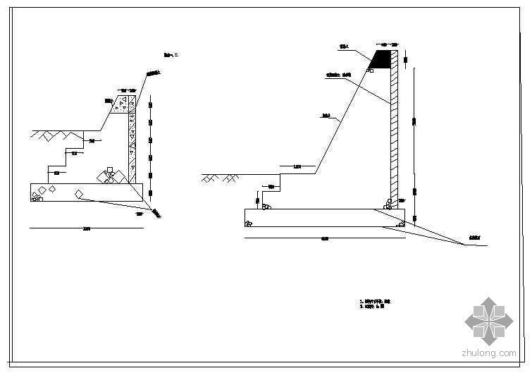 河流小型截潜流工程设计图