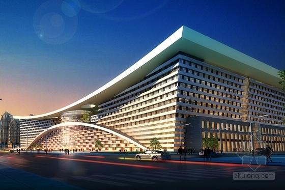 [甘肃]高层城市综合商贸广场建筑设计方案文本(多个方案)-高层城市综合商贸广场效果图