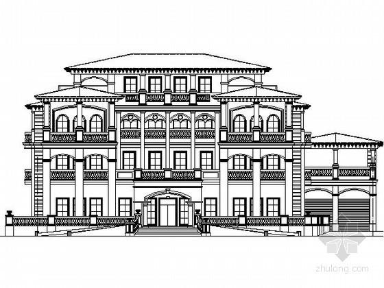 某四层豪华别墅建筑施工图(2000平方米以上)