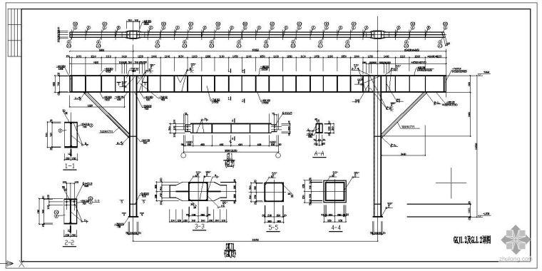 某钢结构通廊节点构造详图(含PKPM计算书)