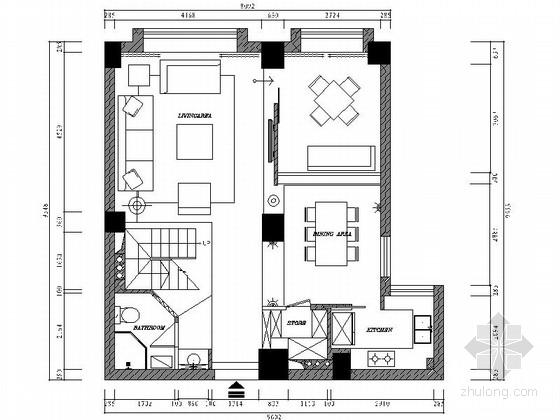 [温州]高档住宅小区现代跃层装修图(含实景)