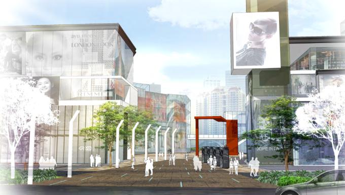 [浙江]现代生态互动商业广场景观设计方案