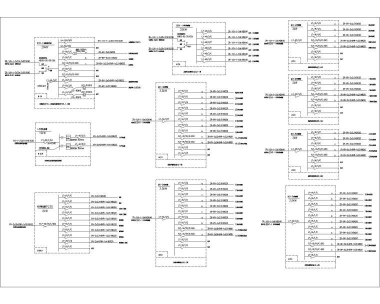 27层高层商住全套楼电气工程设计图(含220/380V配电系统)