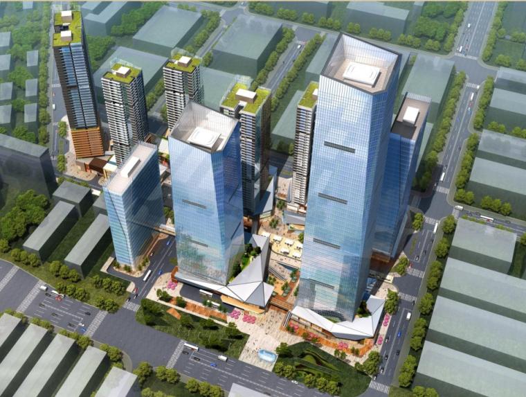 [深圳]超高层呢双子塔物流中心建筑设计方案文本(含CAD图纸)_1