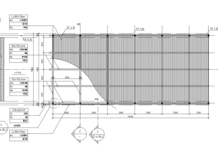 特色精品车库入口廊架详图设计——泛亚景观