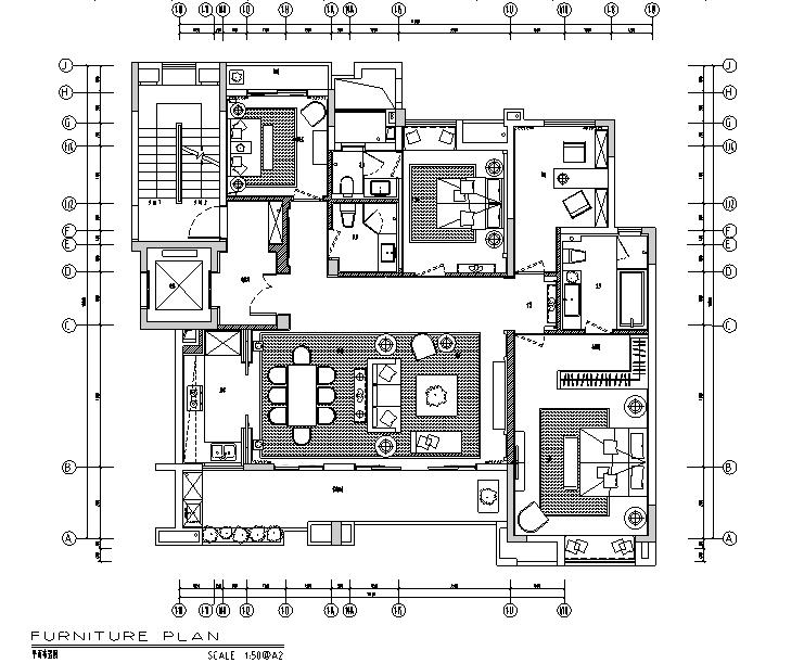 万科悦湾16-1-402B户型设计施工图(附效果图)