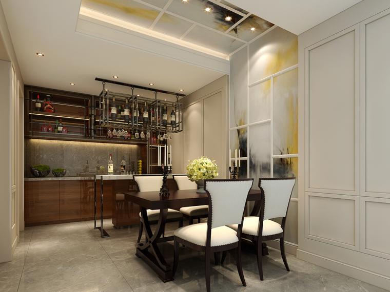 简欧风格|130平米三居室装修效果图|郑涌利设计师