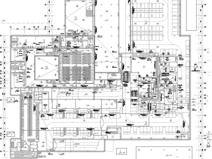 深圳多层教学楼机电设备施工图(电气、给排水、暖通)
