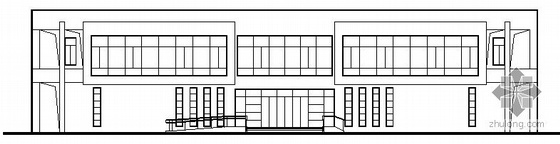 某二层半圆型商业办公建筑施工图