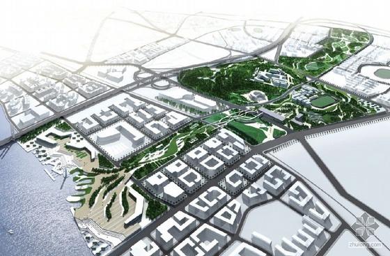 佛山滨水区域景观设计概念图