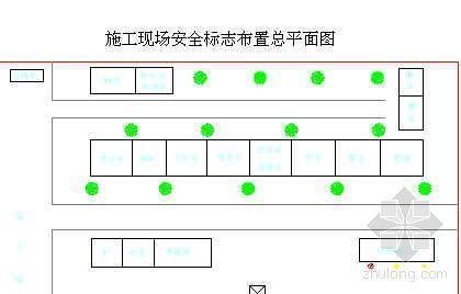 施工现场安全标志布置总平面图
