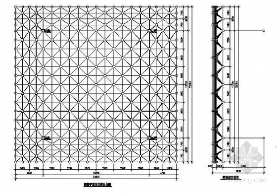 某收费站球形网架结构施工图