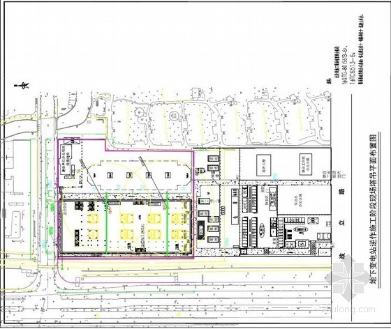 逆作施工阶段现场塔吊平面布置图