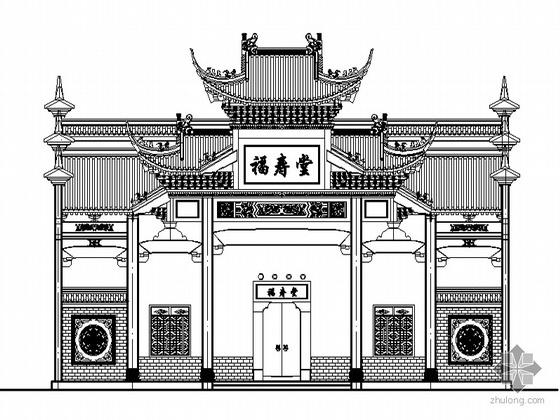 某福寿堂祠堂建筑方案(带实景照片)