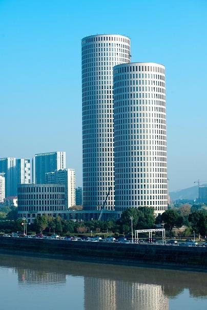 uasb生物接触氧化资料下载-绿色商业建筑工程——杭州生物医药创业基地  