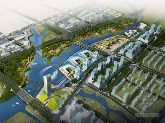 """[福建]""""枝杈""""形态生态公园景观规划方案"""