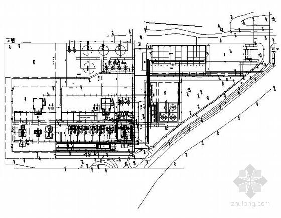 某厂道路与管线平面图