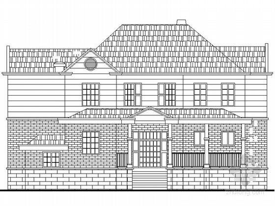 [新农村]2层双拼私家别墅建筑设计图纸带效果图