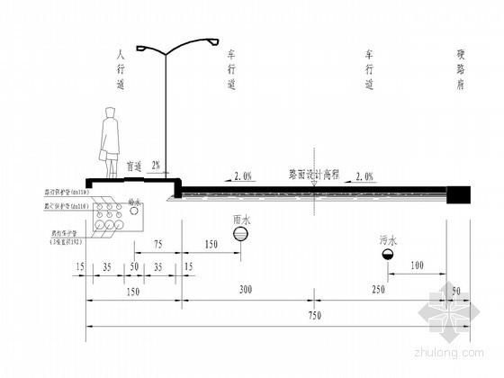 [重庆]体育公园应急通道给排水施工图