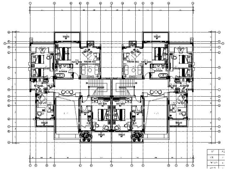 [重庆]综合大型娱乐酒店别墅室内设计施工图