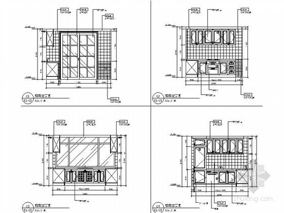 [昆山]顶级住宅时尚现代两层别墅样板房装修图厨房立面图