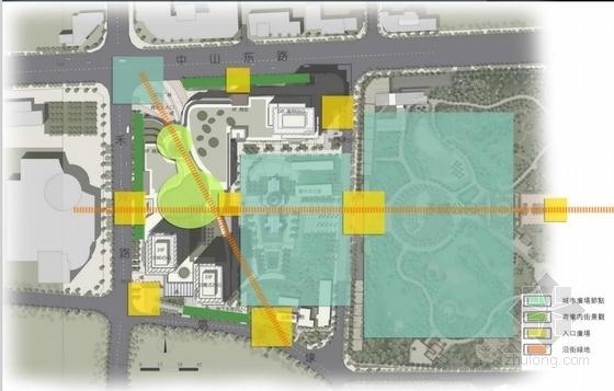 高档现代风格多层次商业综合体建筑分析图