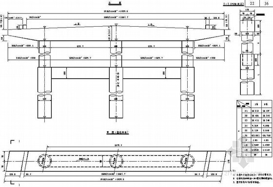 桩柱式墩台下部桥墩一般构造节点设计详图